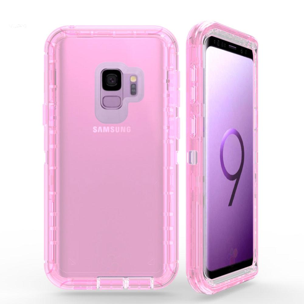 size 40 57743 25c7f Wholesale Galaxy S9 Transparent Armor Defender Case (Pink)