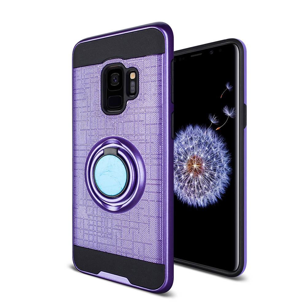 Samsung Galaxy S Plus Purple Case With Ring