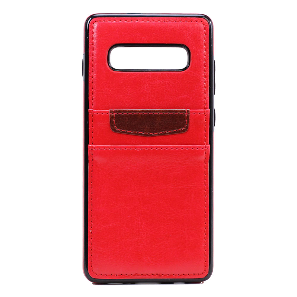 Wholesale Galaxy S10 Leather Style Credit Card Case (Red)