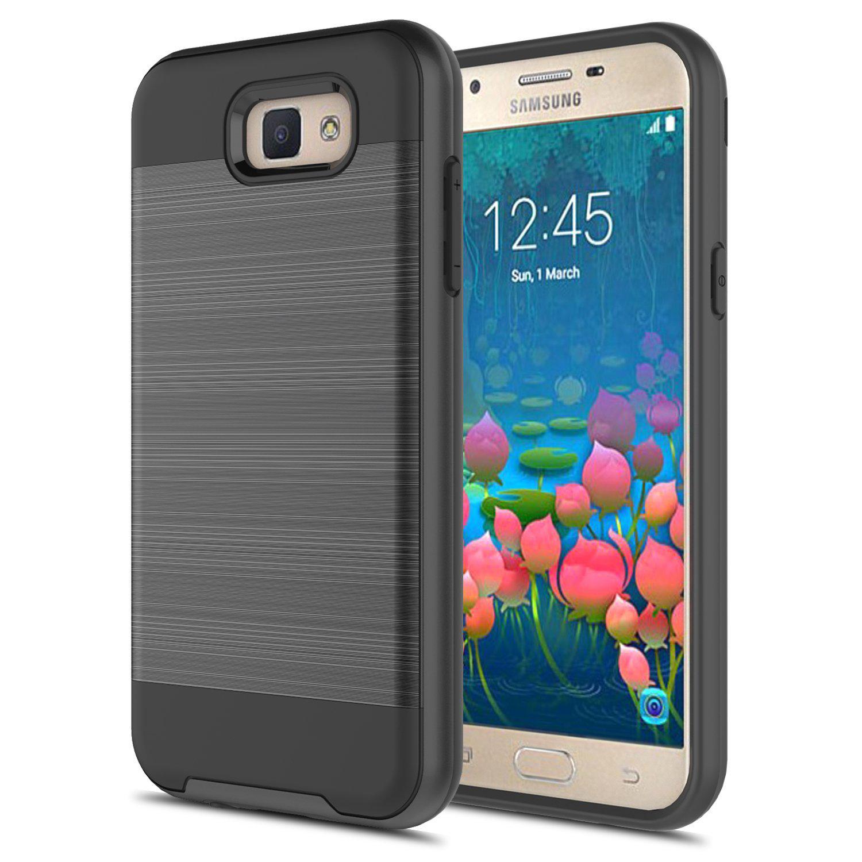 Samsung Galaxy J5 Prime G570 On5 2016 Armor Hybrid Case Black .