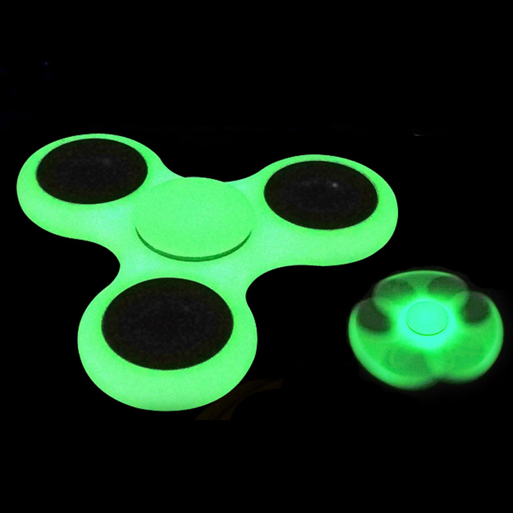 Wholesale Glow In The Dark Fidget Spinner Stress Reducer Toy For ADHD And Autism Adult