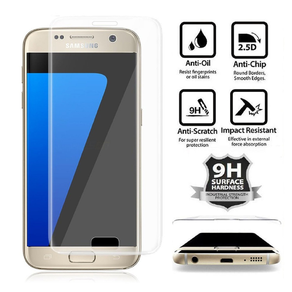 Wholesale Galaxy S7 Tempered Glass Full Screen Protector (Glass Clear). Click Image for Gallery