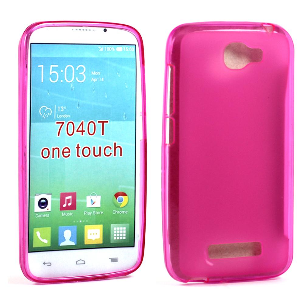 timeless design 6e1ab d10a7 Wholesale Alcatel One Touch Fierce 2 7040T Soft TPU Gel Case (Hot Pink)