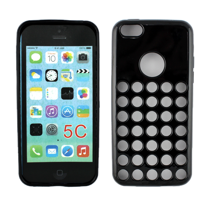 Wholesale iPhone 5C Colorful TPU Case (Black)