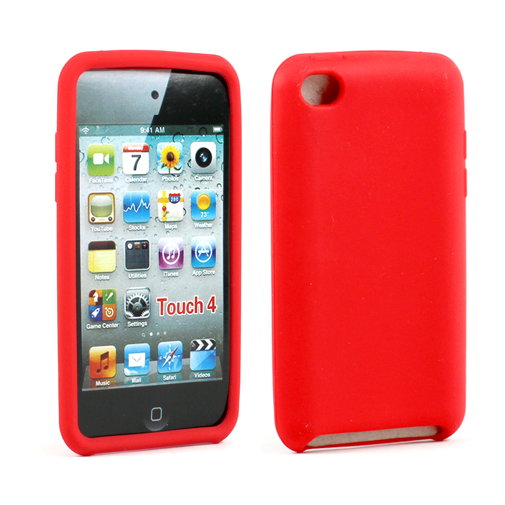 Wholesale Ipod Touch 4 Silicon Soft Case Red