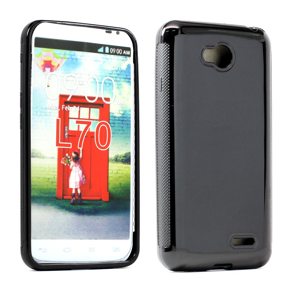 pretty nice 8cde4 6f859 Wholesale LG Optimus L70 Exceed 2 TPU Gel Case (Black)