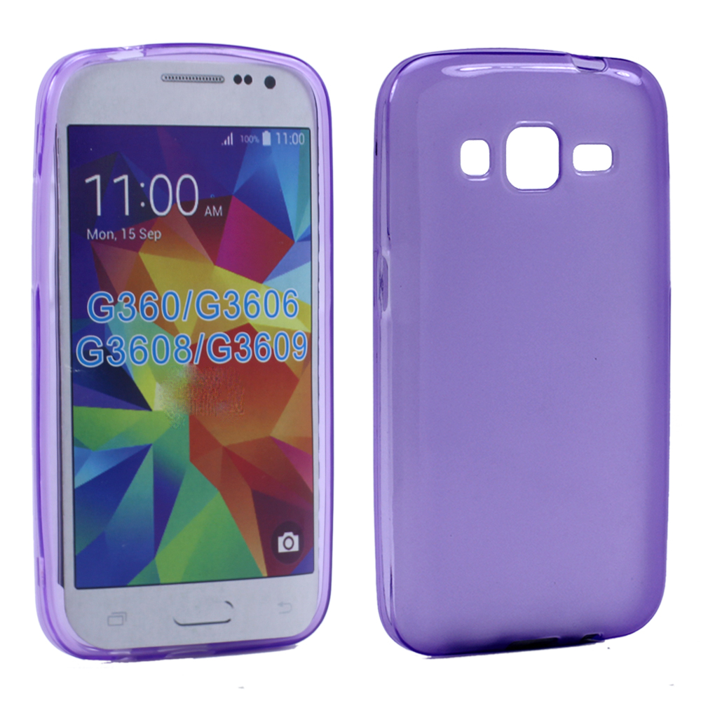 huge discount 67236 a86a6 Wholesale Samsung Galaxy Prevail LTE G360 TPU Gel Soft Case (Purple)