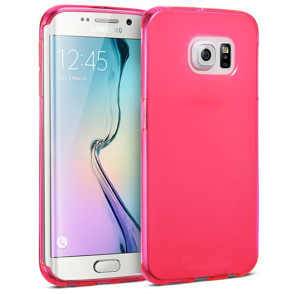 wholesale samsung galaxy s6 edge tpu gel soft case (hot pink)Glaxy S6 Edge Case Galaxy S6 Edge Custom Cases Wireless Charging For Samsung S6 Edge S 6 Case Fashion #12