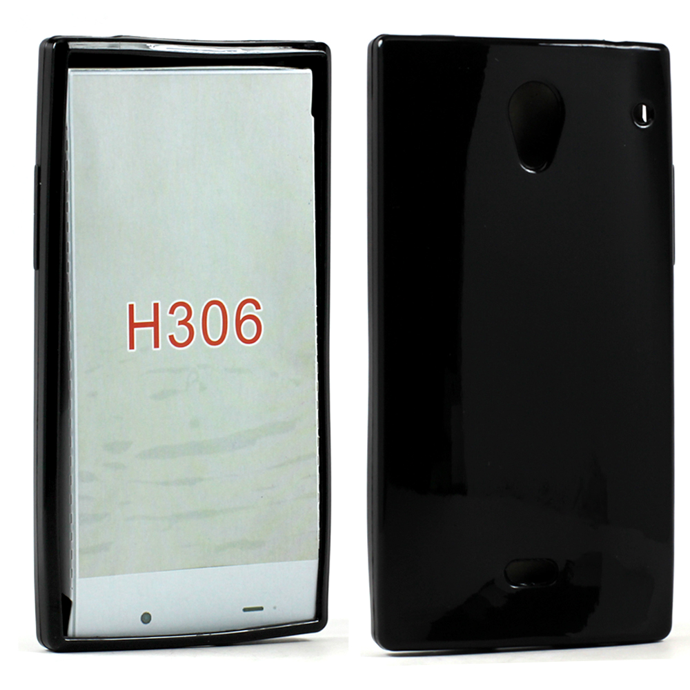 Wholesale Sharp Aquos Crystal H306 Soft TPU Gel Case (Black) 0de0c440ed70
