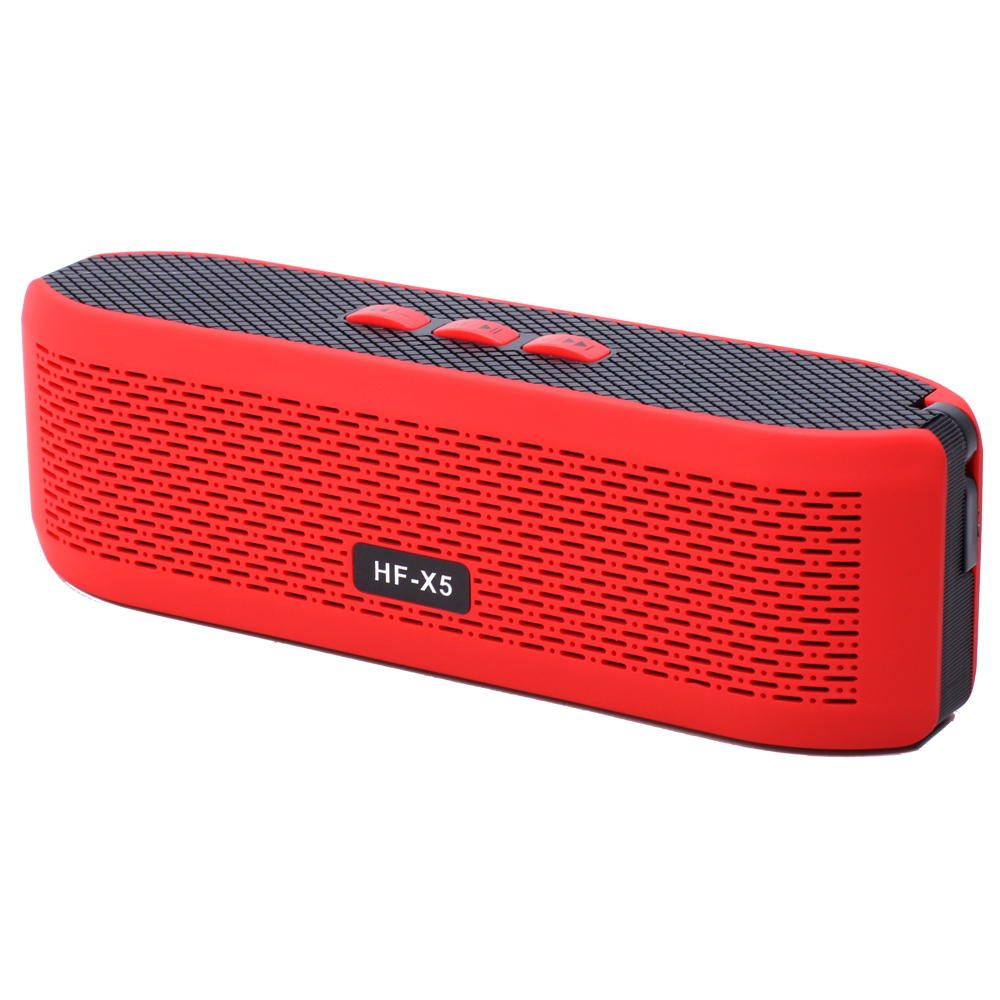 Wholesale LED Sports Portable Bluetooth Speaker HF X5 (Red)
