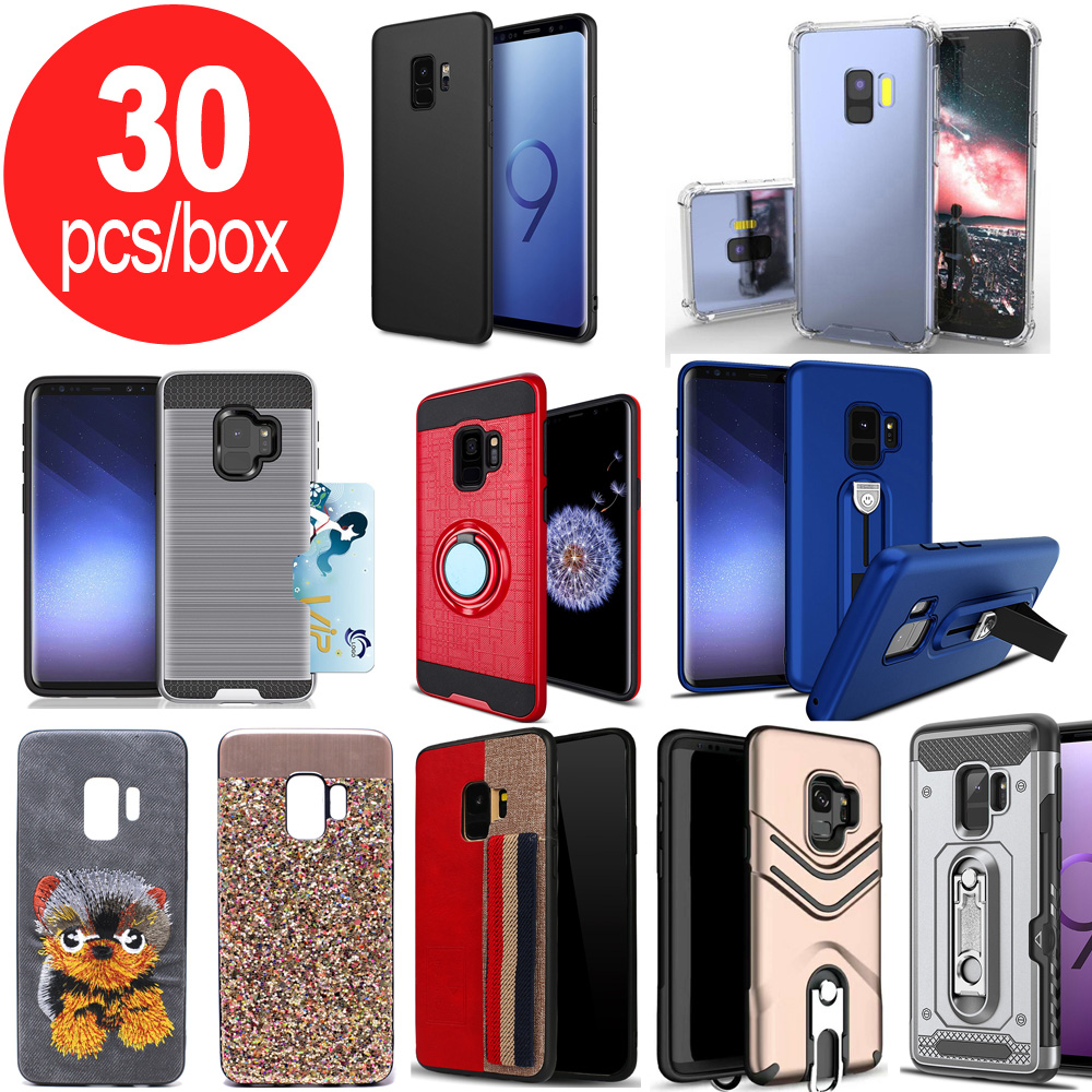 Wholesale 30pc Lot of Samsung Galaxy S9+ (Plus) Assorted Mix Style and  Color Cases - Lots Deal (Style 1)